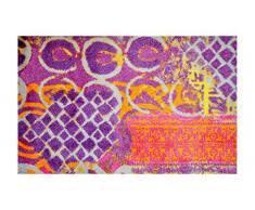 LifeStyle-Mat 200212 Alter Teppich, rutschfeste und waschbare Fußmatte, ideal für den Eingang, die Garderobe oder Küche, 50 x 75 cm, violett