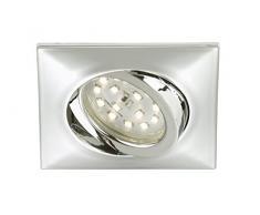 Briloner LeuchtenLED Einbauleuchte, Einbaustrahler, LED Strahler, Spots, Deckenstrahler, Deckenspot, Lampen Wohnzimmer, LED Einbaustrahler 230v, Deckeneinbauleuchten, Einbaulampe, schwenkbar, eckig