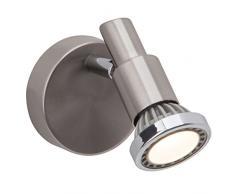 Brilliant Ryan Wandspot, GU10 LED, 1x 3 W, 230lm, 3000K, Metall, eisen / chrom / weiß G57410/77
