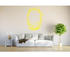 INDIGOS Wandtattoo/Wandsticker-d56 Korb mit Blumen 160x118 cm- gelb, Vinyl, 160 x 118 x 1 cm