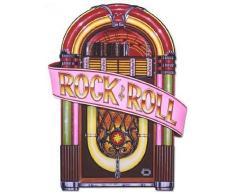 Beistle 57747 1er Pack glitzernde Rock and Roll Luftschlangen Partydeko Jukebox-Ausschnitte One Size Mehrfarbig