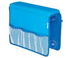InterDesign 09510EU Satteltasche für die Badewanne, Neopren / Netz, blau