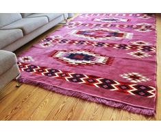 Damaskunst Neu Violet,lila,Weiß,Rot,Dunkel Rot,Dunkel Blau, Teppich 200 cm x 300 cm,Kelim Orient,Wand Teppich,Carpet, Rug, S 1-6-80
