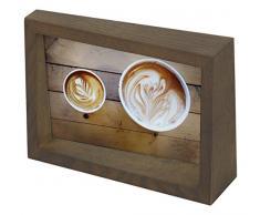 Umbra Edge 10x15 cm Bilderrahmen für Fotos, Kunstdrucke, Illustrationen, Bilder, Graphiken und Mehr – Moderner Wand- und Tisch Fotorahmen aus Eschenholz, Walnuss Antik