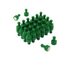 First4magnets F4MSG-48 grüne Skittle Magnet, Büro und Kühlschrank, Packung mit 48, Metall, 12 mm Durchmesser x 21 mm hoch
