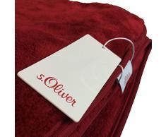 Kuscheldecke s.Oliver 3612 / premium Feecedecke braun / unifarbene Markendecke 150x200cm / aus hochwerigem Polyester / eingefasst mit einem sehr edelen Band