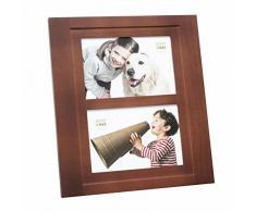 Deknudt Frames S59KH2 Bilderrahmen 10x15 Dunkelbraun, 2 Bilder 10x15 Holz Fotokader