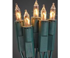 Hellum 835014 Lichterkette 50 Pisellokerzen klar / 10,35 m / innen / Zuleitung 2x1,5 m grün