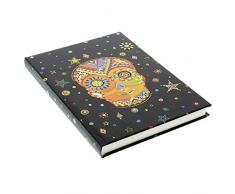 Goldbuch Notizbuch A5, Generation Y Skull, 200 chamoisfarbene Blankoseiten, Kunstdruck mit Goldprägung und Relief, Schwarz, 64313