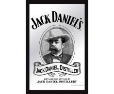 empireposter - Jack Daniels - Jack - Größe (cm), ca. 20x30 - Bedruckter Spiegel, NEU - Beschreibung: - Bedruckter Wandspiegel mit schwarzem Kunststoffrahmen in Holzoptik -