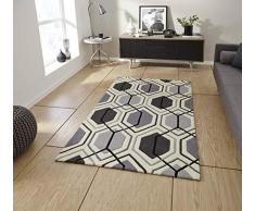 Think Rugs Teppich, grau, 90 x 150 cm