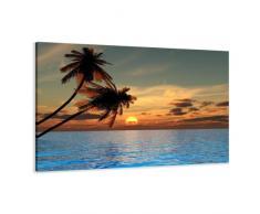 Visario Leinwandbilder 4144 Bild auf Leinwand Palmen, 80 x 60 cm