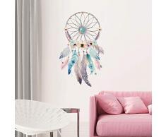 Sticker Böhmen | Wandaufkleber Traumfänger - Tapete Dekoration Raum und Wohnzimmer | 60 x 35 cm