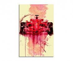 Paul Sinus Art Formula_1_Ferrari_90x60-SA Wandbild Leinwand, 90 x 50 x 3 cm, mehrfarbig