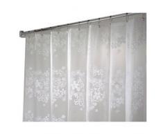 InterDesign Fiore PVC-freier Duschvorhang aus PEVA, 180 x 180 cm - Weiß