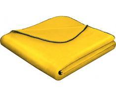 biederlack Überwurf, Baumwoll-Mischgewebe, 150 x 200 cm, Gelb