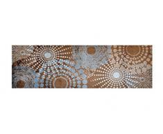 LifeStyle-Mat 100949 Punkte, rutschfester und waschbarer Läufer, ideal für die Garderobe, Küche oder Schlafzimmer, 50 x 150 cm, grau / braun