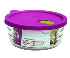 Lock & Lock LLG771 Ovenglas für Mikrowelle und Ofen, Glas, tranparent, 15.8 X 6.4 X 6.4 cm