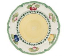 Villeroy & Boch - French Garden Fleurence Frühstücksteller, runder Teller in Premium Porzellan mit sommerlichen Fruchtmotiven, Landhaus-Stil, 21 cm