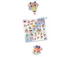 DJECO Lovely Rainbow Aufkleber Luftballons UNISEX-INFANTIL, mehrfarbig (39264)