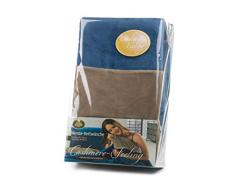 Gözze Wendebettwäsche, Cashmere-Feeling, Bettbezug: 155 x 220 cm, Kissenbezug: 80 x 80 cm, Blau/Taupe, 40028-50-5520