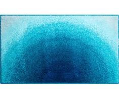 Grund Badteppich 100% Polyacryl, ultra soft, rutschfest, ÖKO-TEX-zertifiziert, 5 Jahre Garantie, SUNSHINE, Badematte 70x120 cm, türkis