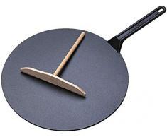 Le Creuset Crepes Pfanne, Gusseisen, 32 cm, schwarz