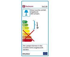 Paulmann 94089 Seil-Leuchte LED 1x4W MacLED Lampe für Seilsystem 12V DC Spot Chrom matt Seilleuchte inklusive fest verbautem Leuchtmittel
