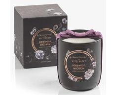 RITZENHOFF Aroma Naturals Noir Duftkerze, Rosewood Macaron, in Geschenkverpackung