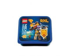 Lego NEXO KNIGHTS Brotdose, Frühstücksdose, blau & schwarz
