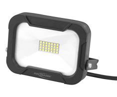 ANSMANN Wandstrahler LED 10W – Strahler IP54 wetterfest & Temperaturbeständig mit dreiadriger Anschlussleitung 20cm, Außenleuchte 5000K Tageslichtweiß universell einsetzbar