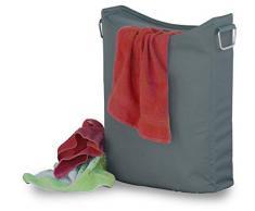 Moderner Wäschekorb, Wäschetonne, Wäschesammler, Multifunktionstasche,dunkelgrau