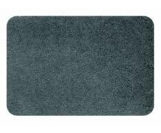 Spirella Badteppich Badematte Duschvorleger Mikrofaser Hochflor | flauschig | rutschhemmend | geeignet für Fußbodenheizung | 60x90 cm | Grau