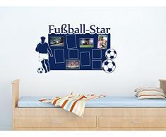 Graz Design 160079_57_020 Wandtattoo Fotorahmen Bilderrahmen Fußball Deko für Kinderzimmer Jungen (Größe=94x57cm//Farbe=020 goldgelb)