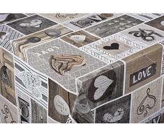 Tischdecke Love in the air Tischtuch Tischwäsche Wachstuch pflegeleicht wasserabweisend Rechteckig 140 x 160 cm, PVC-Polyester, 55022, Venilia