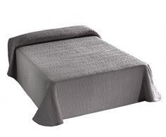 Viantala Tagesdecke, Baumwolle und Polyester, Hellgrau 180X260 Hellgrau