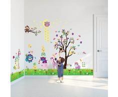 Walplus Wandaufkleber Mauerkunst Dekoration Sterne Gras Eule Baum Tiere Kinderzimmer Wohnzimmer