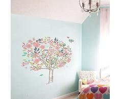 Walplus - Wand Sticker Familien Dekoration Kirschbaum Vögel