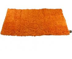 Gözze Teppich, 100% Baumwolle, Wollgarn-Hochfloroptik, 60 x 100 cm, Orange, 1010-0764-74