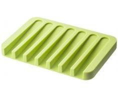 YAMAZAKI home Flow Silikon Seife Tablett grün