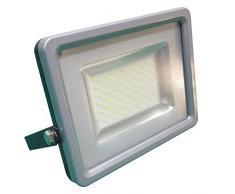 V-TAC 5683 LED 50 Watt SMD Fluter Scheinwerfer Strahler - Licht 4500 Kelvin tagweißes Licht - IP65 - 4000 lm - Ersetzt 250 Watt Halogen - Gehäuse Aluminiumdruckguss grau VT-4850