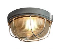 Brilliant Lauren Deckenleuchte Wandleuchte 26cm rund grau Beton Industrial Look Glas, 1x E27 geeignet für Normallampen bis max. 40W