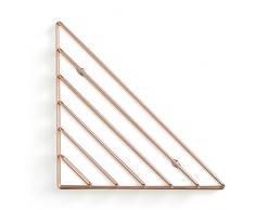Umbra Strum Wand Zeitschriftenhalter im Geometrischen Design – Modernes Wandboard für Bücher, Magazine, Zeitungen und Mehr – Anbringung in 3 unterschiedlichen Ausrichtungen Möglich, Metall / Kupfer