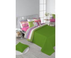 Stilia Tagesdecke, Frühling/Sommer/Herbst, zweifarbig, wendbar, Limette, 250 x 270 cm, für 150 cm breites Bett, 250 x 270 m