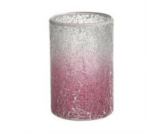 YANKEE CANDLE 1521539 Fade Mosaic Windlicht, Glas, rosa/klar, 16 x 16 x 22,5 cm
