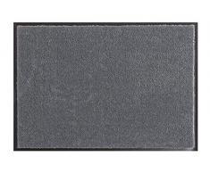 Hanse Home Waschbare Schmutzfangmatte Soft & Clean Grau, 39x58 cm