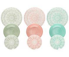 Tognana ME070185598 Tafelservice 18-teilig Gipsy Soft, Porzellan