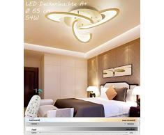 N2127-3FL LED Deckenleuchte mit Fernbedienung ist die Lichtfarbe/Helligkeit einstellbar A+LED Wohnzimmerleuchte Kronleuchte Pendelleuchte Deckenlampe Deckenstrahler LED Deckenleuchte (2127-3FL)
