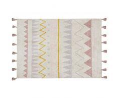 Lorena Canals groß Aztec waschbar Natur Teppich, Baumwolle, Vintage Nude, 140x 200x 30cm