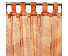 MonbeauRideau Wellen 110Â x 250Â orange Tab Top Vorhang
